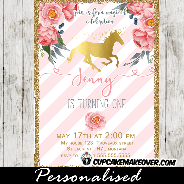 Baby Shower Invitations Unicorn