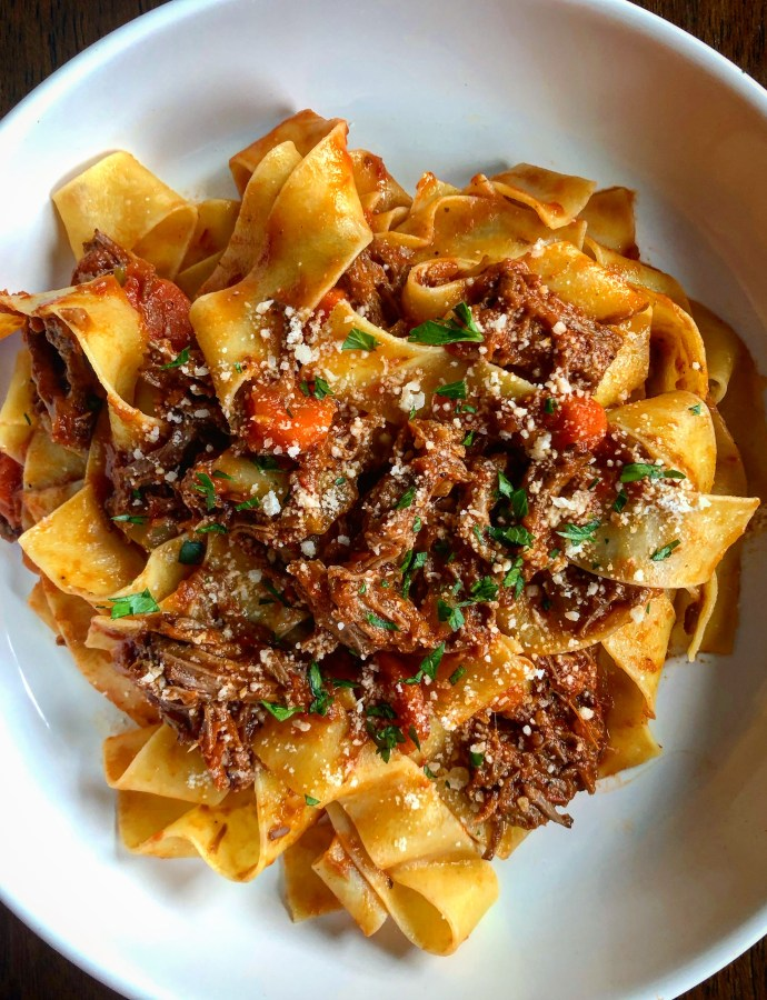 Shredded Beef Ragu with Pappardelle