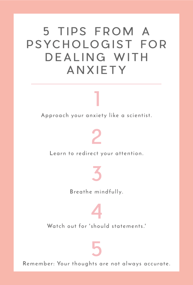 5 Tips from a Psychologist for Dealing with Anxiety