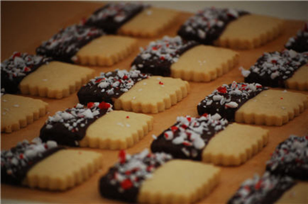 Chocolate-Peppermint Wafers