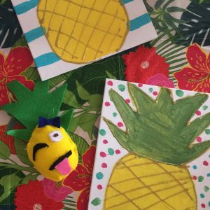 Pretty Pineapple Painting And Pineapple Emoji Crafting Party Cupcakes Lace