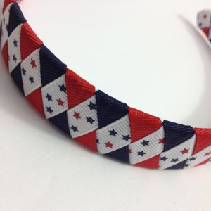 July 4th ribbon braided headband