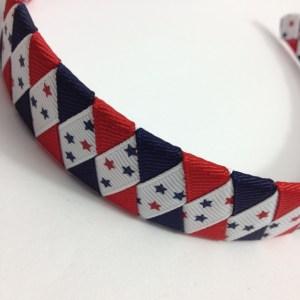 July 4th ribbon braided headband