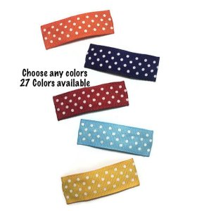 40mm Dot Lined Snap Hair Clips