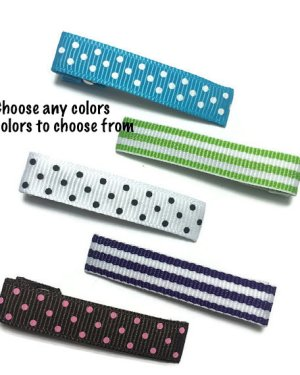 dots stripes lined 45mm alligator clips teeth