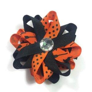 Orange Halloween Cats Hair Bows