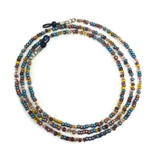 Turquoise Browns Beaded Eyeglass Chain