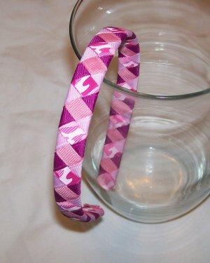pink camouflage woven headband