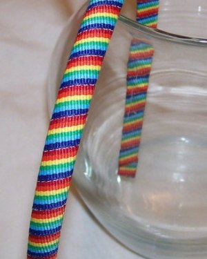 rainbow stripe wrapped headband