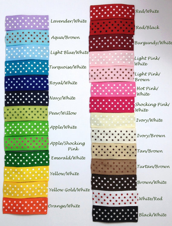 40mm/ 50mm Dot Lined Snap Hair Clips