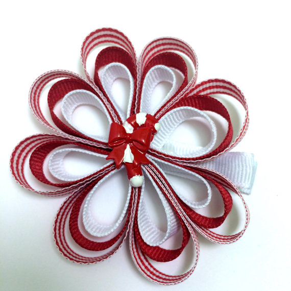 Candy Cane Sculpture Bow