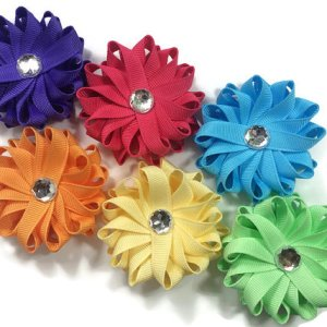handmade Flower Hair Bows