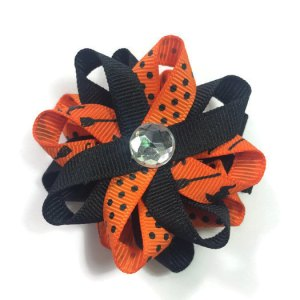 Orange Halloween Cats Hair Bows