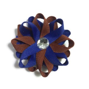 Royal Blue Bronze Hair Bows