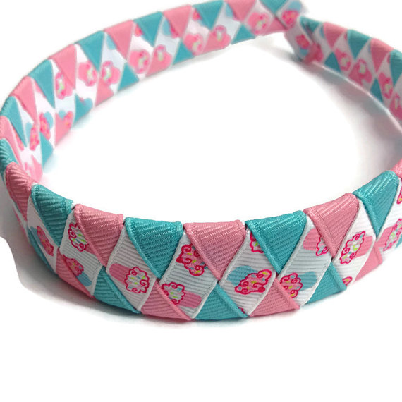Pink Cupcake Braided Headband