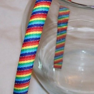 rainbow stripe wrapped headband