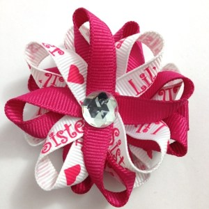 white Little Sister Hair Bows