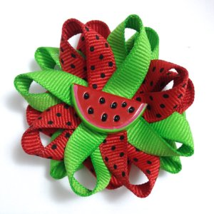 Watermelon fruit Hair Bows