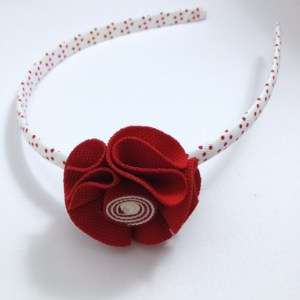 Red Fabric Flower Headband