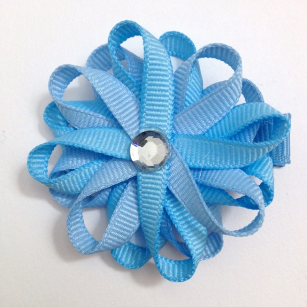 Millennium Blue Light Blue Hair Bows