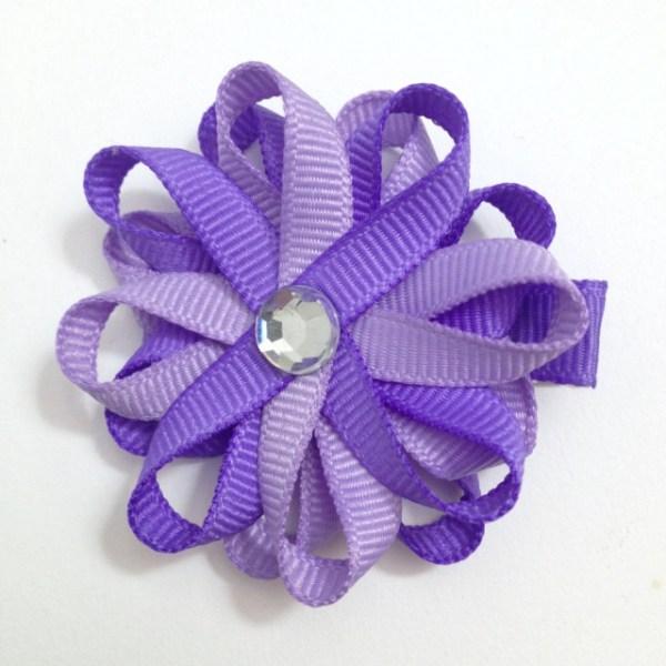 Purple Lavender Hair Bows