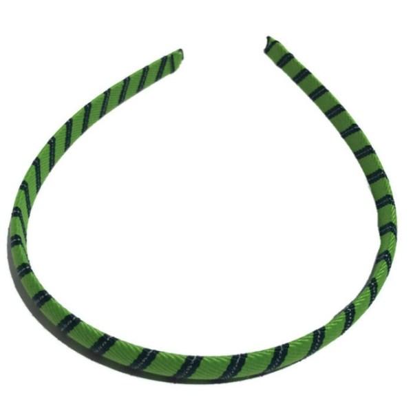 Green Stripe thin Headband