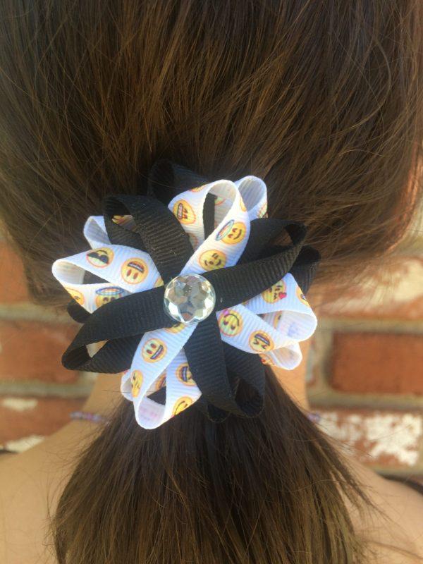emoji handmade hair bow