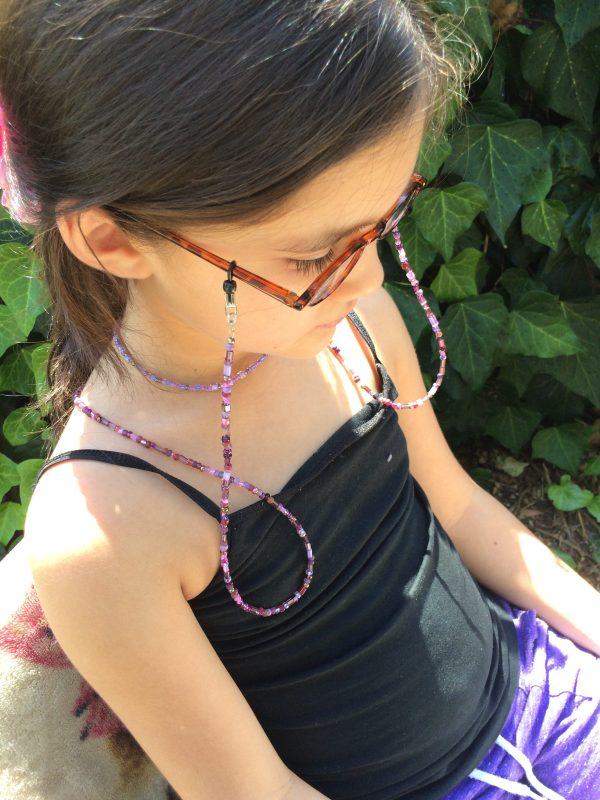 Amethyst Beaded Eyeglass Chain