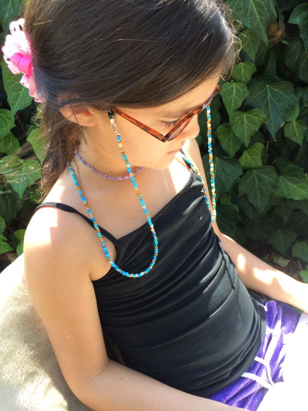 Turquoise Beaded eyeglass chain