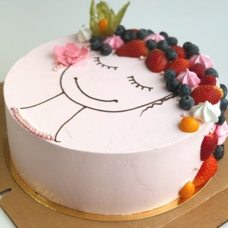торт с ягодами для жены
