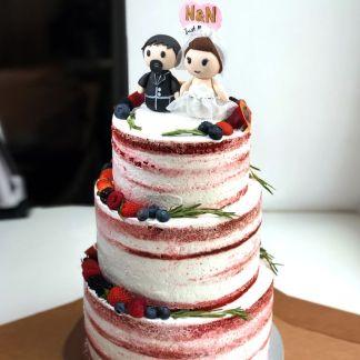 торт свадебный с фигурками