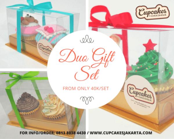 Duo Cupcake Gift Set – Paket 2 Cupcakes Cantik untuk Souvenir