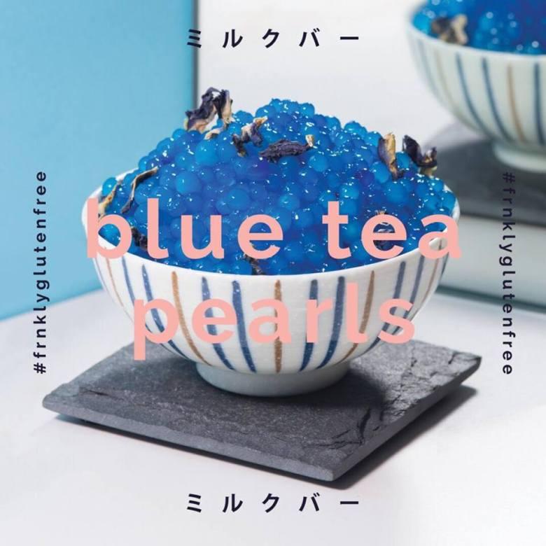 Blue tea pearls