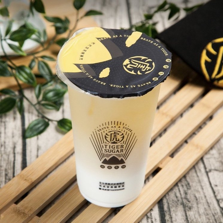 Tiger Sugar Green Tea Latte with Cream Mousse