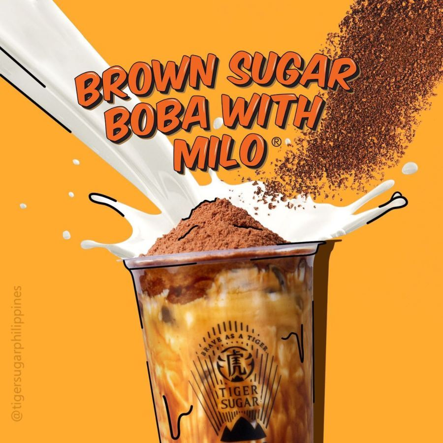 Tiger Sugar Philippines Best selling Brown Sugar Boba with Milo