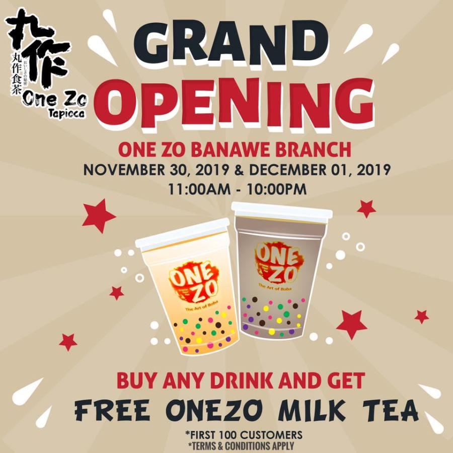 One Zo Grand Opening Promo