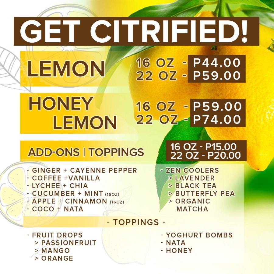 Citrus Zone Menu Philippines