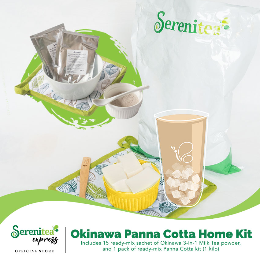 Serenitea Okinawa Milk Tea with Panna Cotta DIY Home Kit