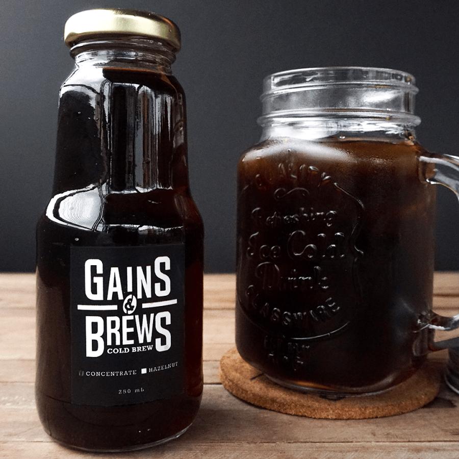 Gains & Brews Hazelnut Concentrate