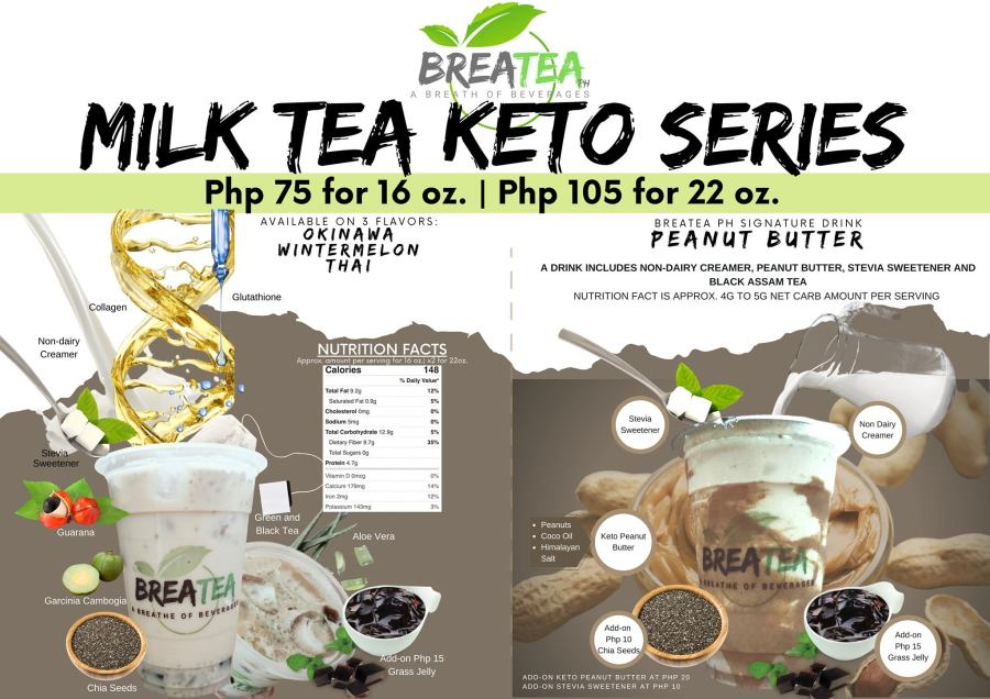 Breatea PH Menu Milk Tea Keto Series
