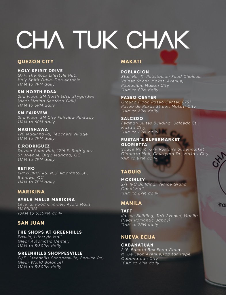 Cha Tuk Chak Branches