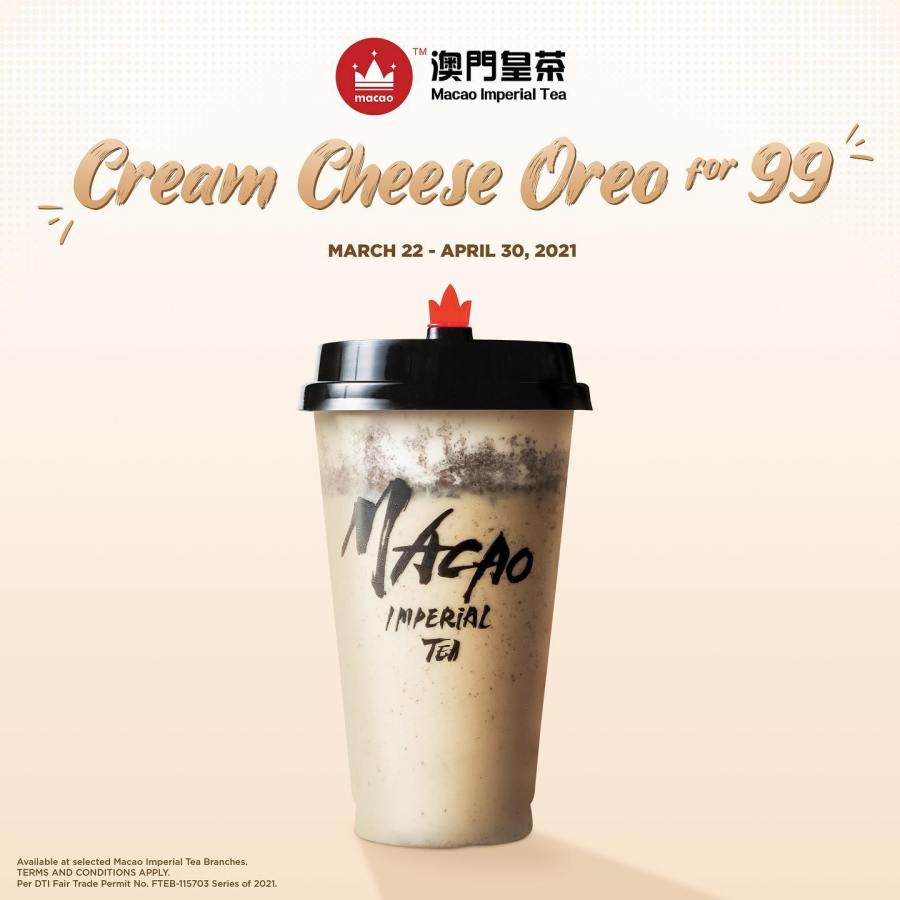 Macao Imperial Tea Cream Cheese Oreo for only P99!