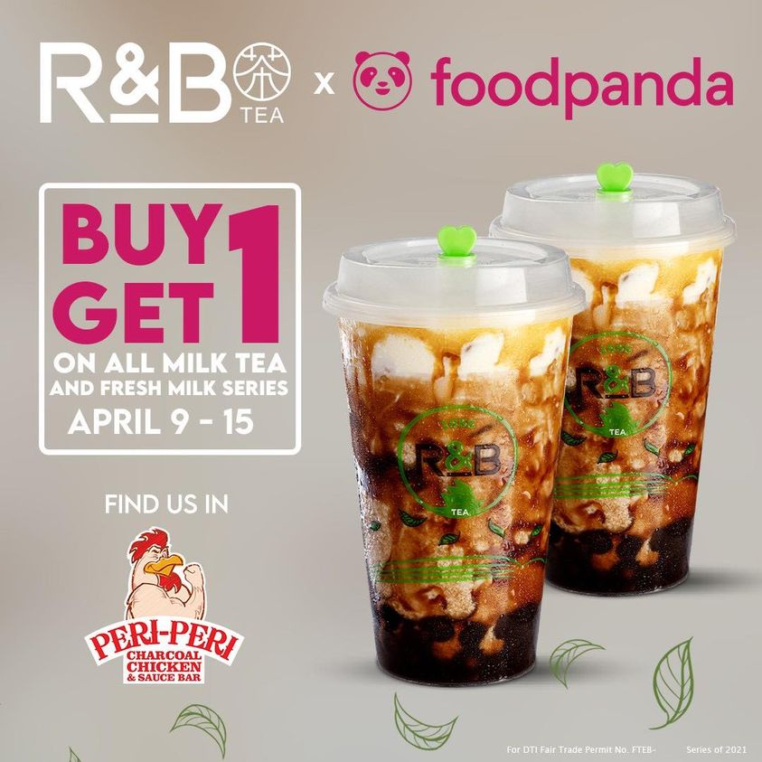 R&B Tea Buy 1 Take 1 Promo on FoodPanda