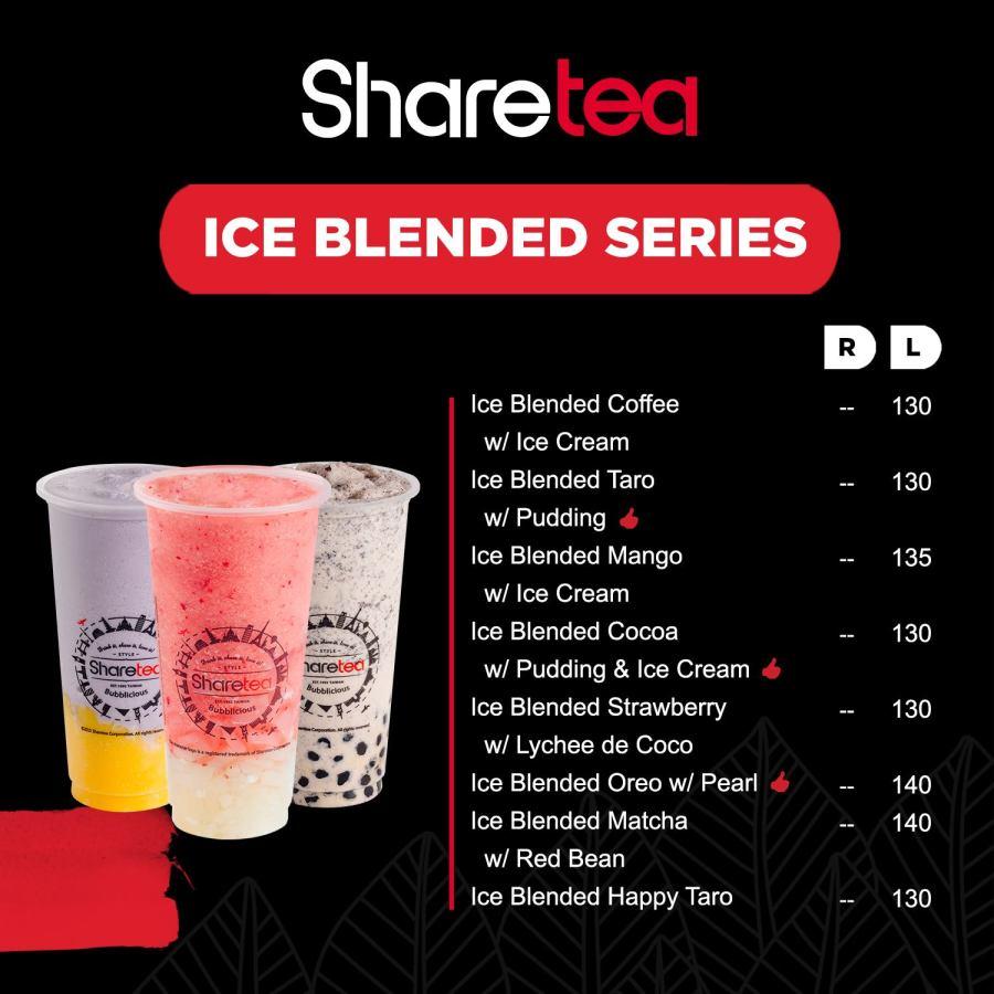 Sharetea Menu Ice Blended Series