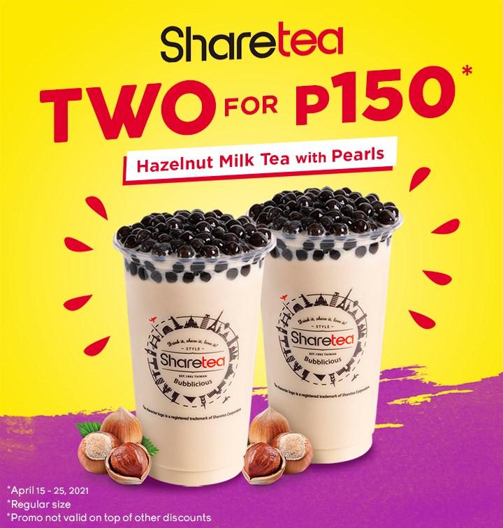 Sharetea Promo Philippines Buy 2 for P150
