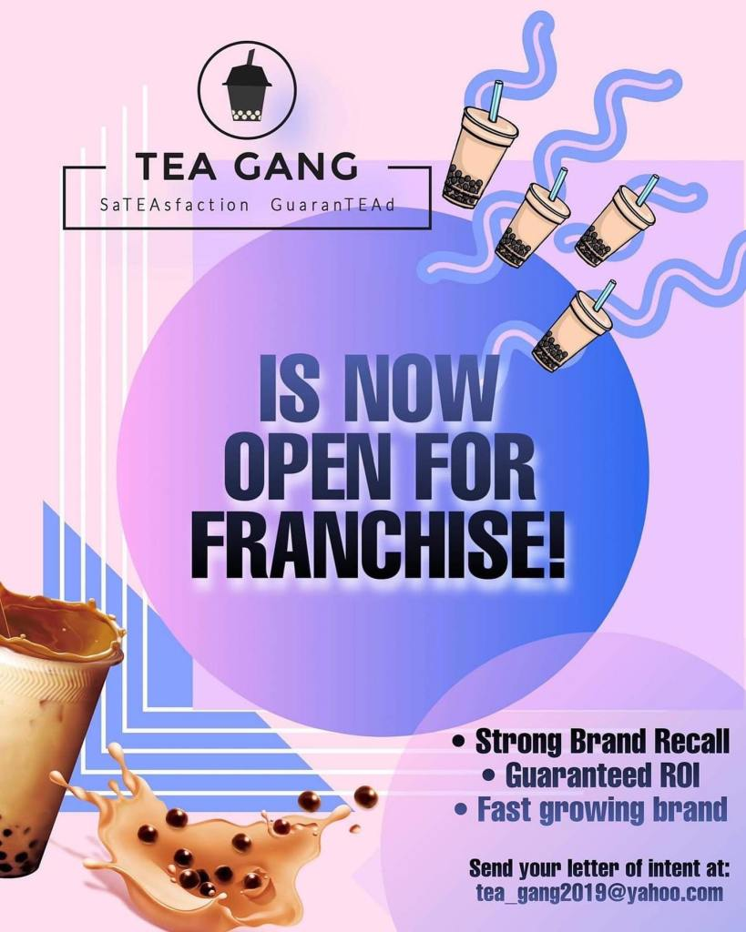 Tea Gang Milk Tea Shop Philippines Now for Franchise