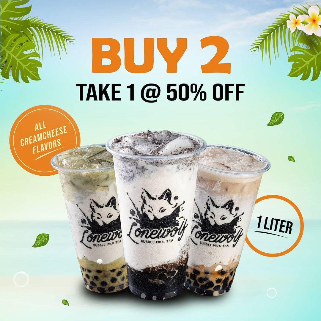 Lonewolf Bubble Milk Tea Promo Buy 2 Take 1 at 50% OFF