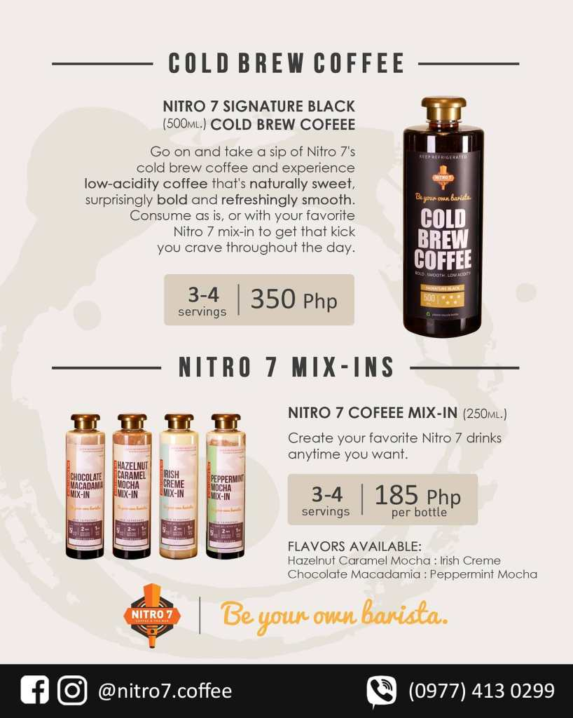 Nitro 7 Cold Brew Coffee and Mix Ins