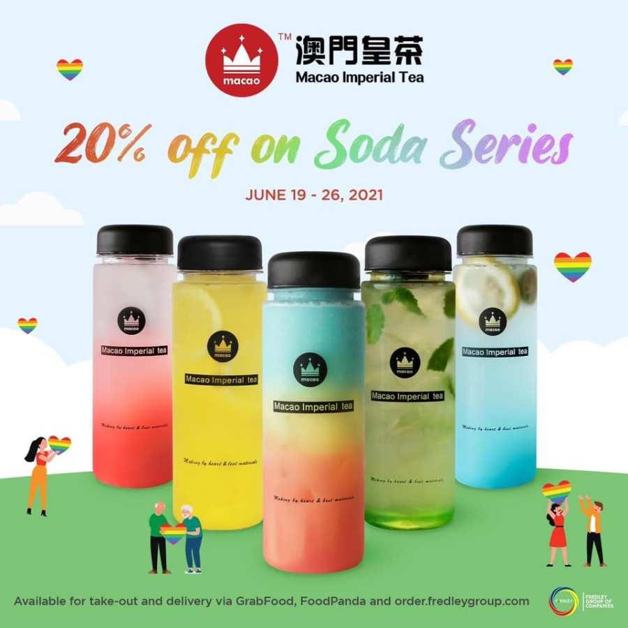 Macao Imperial Tea Promo 20% off on Soda Series