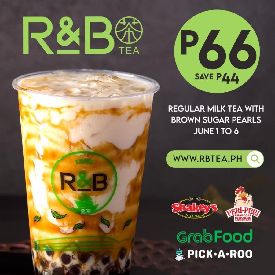 R&B Tea Philippines Promo P66 Milk Tea